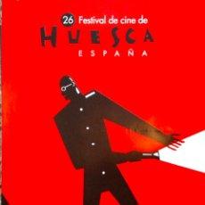 Carteles: CARTEL FESTIVAL DE CINE DE HUESCA DE 1998. DISEÑO DE ARNAL BALLESTER. 70X100 CM APROX.. Lote 39876647