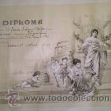 Carteles: BONITO DIPLOMA DE GRADO ELEMENTAL DE ZAMORA 1912. Lote 39907703