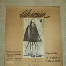 Carteles: CARTEL EXPOSICIÓN BERNARD BUFFET. SALA CALEDONIA, BILBAO, 1975. 48 X 35 CMS.. Lote 40163471