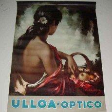 Carteles: ANTIGUO CARTEL ORIGINAL DE CALENDARIOS DE ULLOA OPTICO Y UNION ESPAÑOLA DE EXPLOSIVOS - AÑO 1971 - M. Lote 38249422