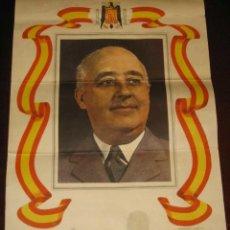 Carteles: ANTIGUO CARTEL DE FRANCO, ARTES GRAFICAS MUNIDIPALES, 1959 - MIDE 45 X 35 CMS.. Lote 38259965