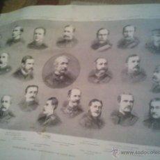 Carteles: EXPEDICION AL NILO, LORD WOLSELEY Y SU ESTADO MAYOR. MEDIDAS 55 X 42 LA ILUSTRACION ARTISTICA 1884. Lote 40321904