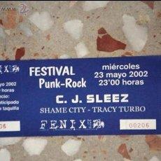 Carteles: FESTIVAL PUNK-ROCK ENTRADA CONCIERTO C.J SLEEZ. Lote 41066593