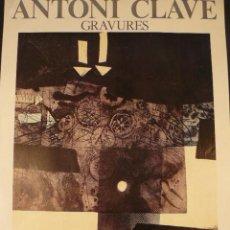 Carteles: CARTEL EXPOSICION ANTONI CLAVE. Lote 116413100