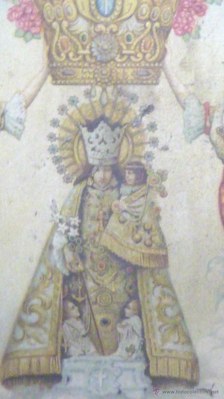Carteles: cartel papel seda . Recuerdo de la coronación Ntra Sra de los DESAMPARADOS . Valencia 1923 virgen - Foto 2 - 42318242