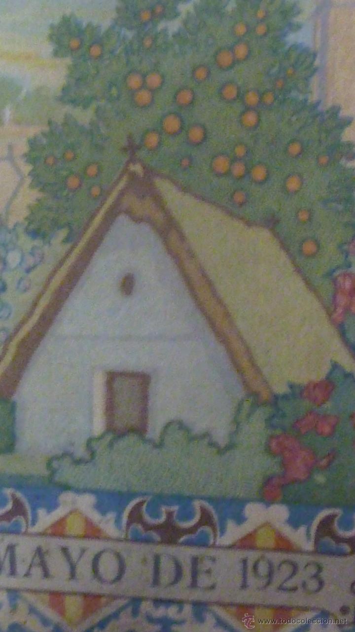 Carteles: cartel papel seda . Recuerdo de la coronación Ntra Sra de los DESAMPARADOS . Valencia 1923 virgen - Foto 3 - 42318242