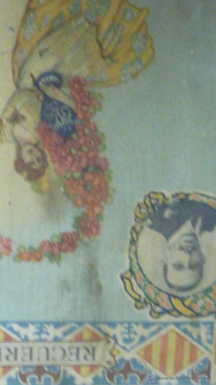 Carteles: cartel papel seda . Recuerdo de la coronación Ntra Sra de los DESAMPARADOS . Valencia 1923 virgen - Foto 5 - 42318242