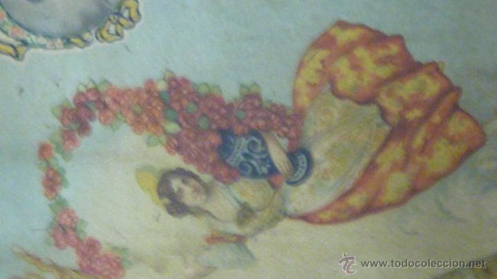 Carteles: cartel papel seda . Recuerdo de la coronación Ntra Sra de los DESAMPARADOS . Valencia 1923 virgen - Foto 7 - 42318242