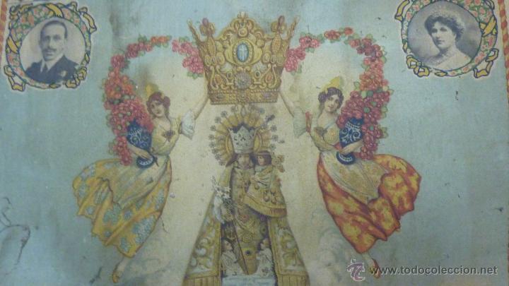 Carteles: cartel papel seda . Recuerdo de la coronación Ntra Sra de los DESAMPARADOS . Valencia 1923 virgen - Foto 9 - 42318242