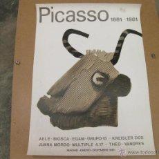 Carteles: CARTEL DE LA EXPOSICION DE PICASSO EN 1981. Lote 42444563