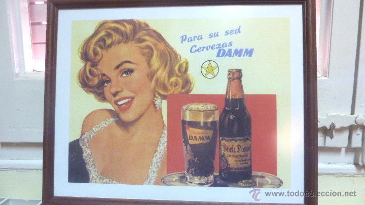 cartel lámina publicidad cerveza damm y marily - Comprar en ...