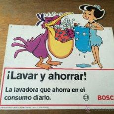 Carteles: DISPLAY - CARTEL TROQUELADO DE LAVADORA BOSCH - BETTY PICAPIEDRA - AÑO 1993 - HANNA BARBERA. Lote 43457748