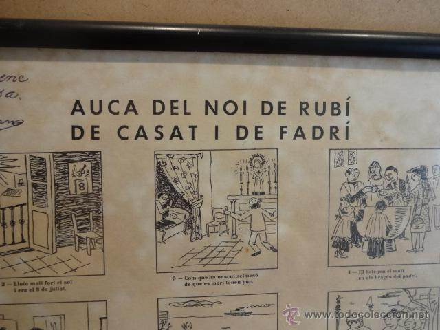 Carteles: AUCA DEL NOI DE RUBÍ DE CASAT I DE FADRÍ. FIRMADA, NUMERADA Y ENMARCADA. 45 X 65 CM. LEER - Foto 2 - 43570606