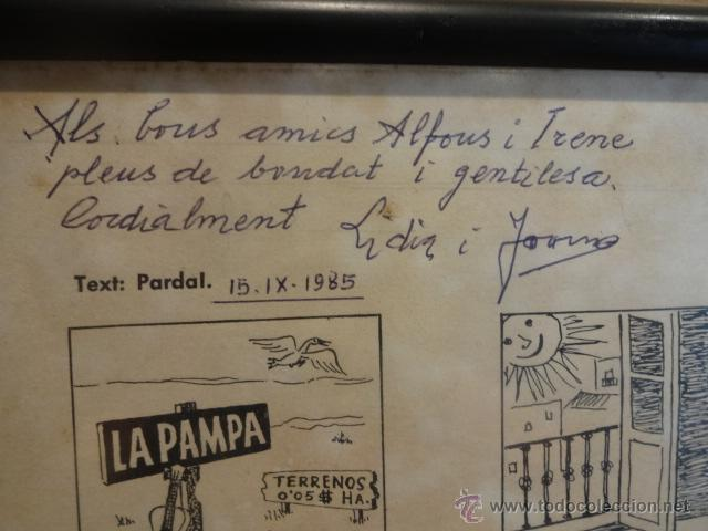 Carteles: AUCA DEL NOI DE RUBÍ DE CASAT I DE FADRÍ. FIRMADA, NUMERADA Y ENMARCADA. 45 X 65 CM. LEER - Foto 7 - 43570606