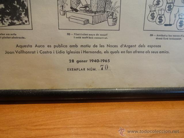 Carteles: AUCA DEL NOI DE RUBÍ DE CASAT I DE FADRÍ. FIRMADA, NUMERADA Y ENMARCADA. 45 X 65 CM. LEER - Foto 9 - 43570606