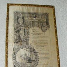 Carteles: CARTEL DE SEDA. IV CENTENARIO DEL DESCUBRIMIENTO DE AMERICA. MADRID - 1892. Lote 44102645