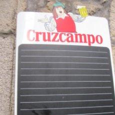 Carteles: CARTEL DE MENUS - LOGO CERVEZA CRUZ CAMPO 70X48CM EN METACRILATO - BIEN CONSERVADO. Lote 130975149
