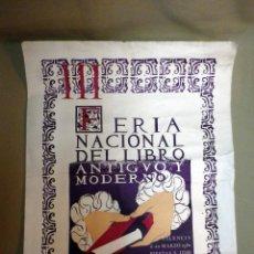 Carteles: CARTEL PUBLICITARIO, III FERIA NACIONAL DEL LIBRO, 1980, VALENCIA, MEDIDAS: 56X43 CM. Lote 44819589