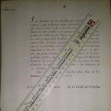 Carteles: VALENCIA 1808 BANDO SOBRE EL SERVICIO DE CORREOS GUERRA DE INDEPENDENCIA . Lote 45102331