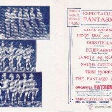 Carteles: ESPECTACULOS FANTASIO - AÑO 1934. Lote 45147139