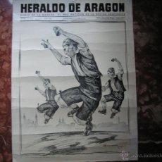 Carteles: CARTEL DE HERALDO DE ARAGON MEDIDAS 55CMX41CM. Lote 45302644