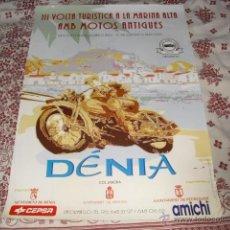 Carteles: CARTEL III VOLTA TURISTICA MARINA ALTA AMB MOTOS ANTIGUES - DÉNIA 1995 -. Lote 45518786