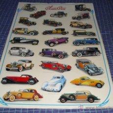 Carteles: CARTEL - CLASSIC CARS -. Lote 45540050