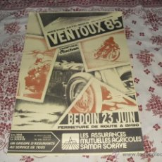 Carteles: CARTEL - VENTOUX 85 - MEETING AUTO-MOTO SIDE-CARS- CYCLECARS -. Lote 45540312