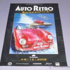 Carteles: CARTEL AUTO RETRO BARCELONA AÑO 2008. Lote 45558048
