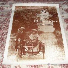 Carteles: CARTEL 5ª EXCURSION PARA MOTOCICLETAS ANTIGUAS - EL ESCORIAL 1980 -. Lote 45559204