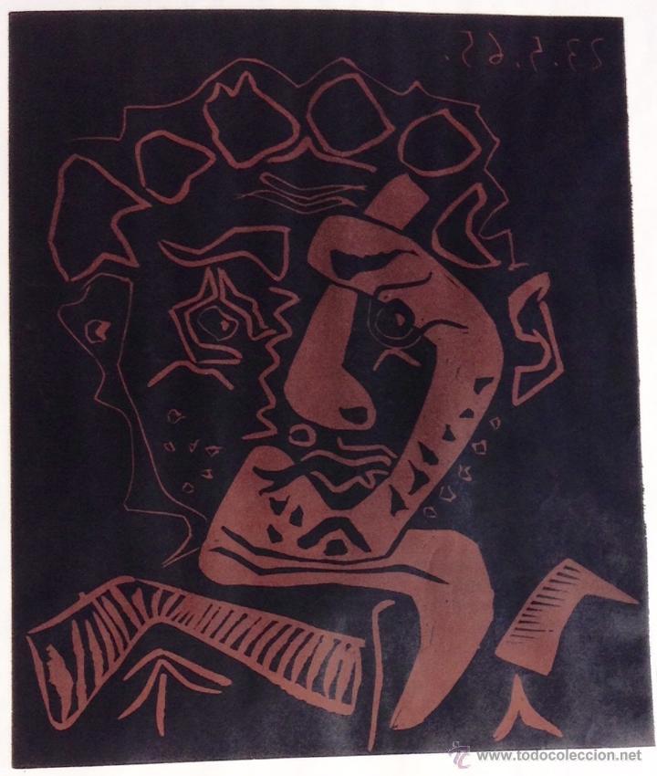 Carteles: PICASSO LINOLEUM ORIGINAL 1965 - Foto 2 - 45625436