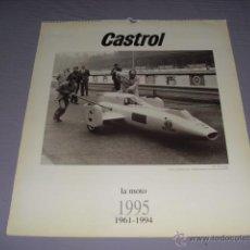 Carteles: CASTROL - LA MOTO 1961-1994 - AÑO 1995 - 55,5 X 49 CMS.. Lote 45726813