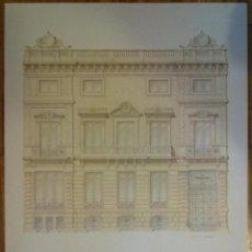 Carteles: L'EIXAMPLE UN PATRIMONI DESCONEGUT BARCELONA 1982 ILUSTRACION LLUIS X. COMERON CASA ELIZALDE. Lote 45843098