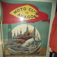 Carteles: CARTEL MOTO CLUB DE ARAGON. Lote 45849783