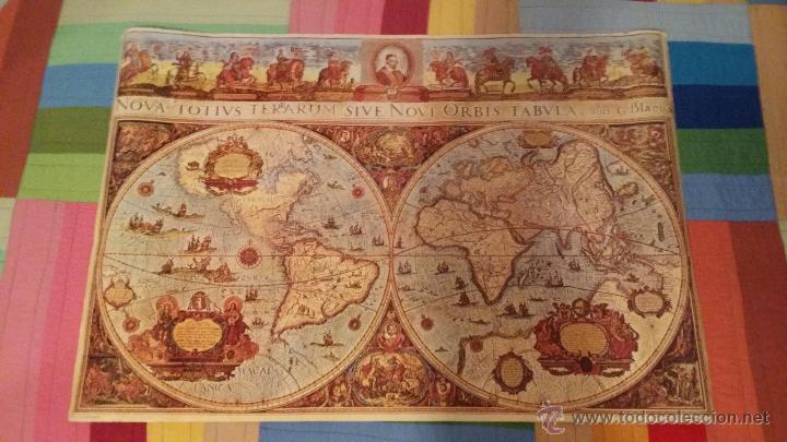poster mapamundi antiguo impreso en 1993 tama  Comprar en