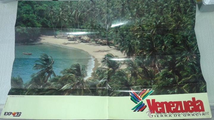 CARTEL PABELLON DE VENEZUELA EXPO 92 SEVILLA 1992 (Coleccionismo - Carteles Gran Formato - Carteles Varios)