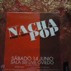 Carteles: CARTEL - NACHA POP EN CONCIERTO. Lote 46214039