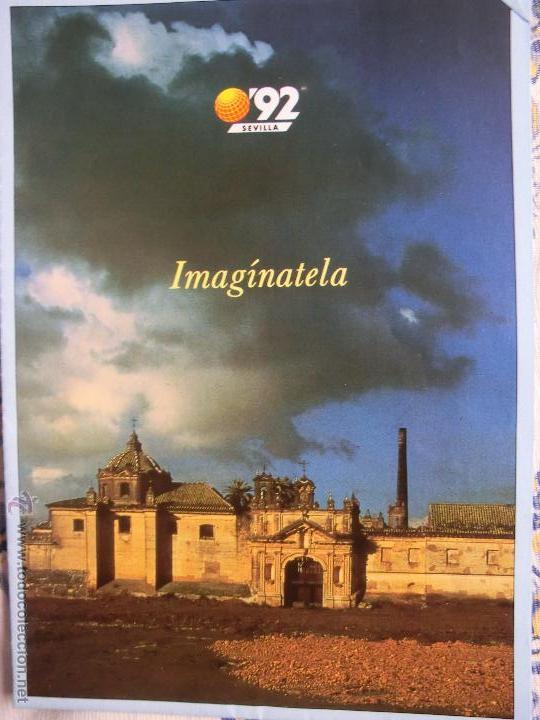 EXPO 92 IMAGÍNATELA CARTEL (Coleccionismo - Carteles Gran Formato - Carteles Varios)