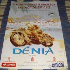 Carteles: CARTEL 3ª VOLTA TURISTICA A LA MARINA ALTA - DÉNIA - ABRIL 1995 - 68,5 X 48,5 CMS.. Lote 47375088
