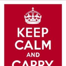 Carteles: KEEP CALM AND CARRY ON. LÁMINA CARTEL EN PAPEL GRUESO ESTUCADO. Lote 47558569