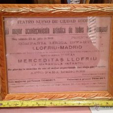 Carteles: CARTEL COMPAÑIA LIRICA LLOFRIU - MADRID - AÑO 1940. Lote 47605116