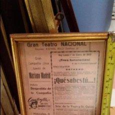 Carteles: CARTEL TEATRO COMPAÑIA JUVENIL MARIANO MADRID - GRAN TEATRO NACIONAL - AÑO 1945. Lote 47605140