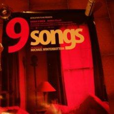 Carteles: 9 SONGS, CARTEL DE CINE ORIGINAL 70X100 CM CON ALGUN DEFECTO. Lote 47713614