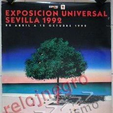 Carteles: CARTEL DE LA EXPO'92 SEVILLA EXPOSICIÓN UNIVERSAL 1992 G. BILLOUT ARTE DISEÑO GRÁFICO PÓSTER EXPO 92. Lote 47717030