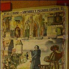 Carteles: CARTEL DE CATEQUESIS ANTIGUO. DE D. BAIXEIRAS V. . Lote 43441419