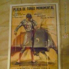 Carteles: CARTEL GRANDE TOROS MONUMENTAL BARCELONA 1969 EMPRESA BALAÑA. Lote 35838200