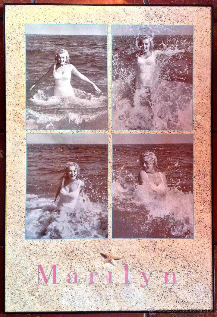 cartel poster marilyn monroe 4 fotos playa cine - Comprar en ...