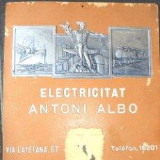 Carteles: BONITO CARTEL DE ALMANAQUE CALENDARIO DE 1932 PUBLICIDAD CARTON DURO . Lote 48337593