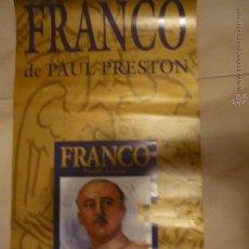 Carteles: CARTEL F.FRANCO .-PUBLICIDAD LIBRO P.PRESTON -GRUPO GRIJALBO 60 X 30 APROX.-BB. Lote 48827302