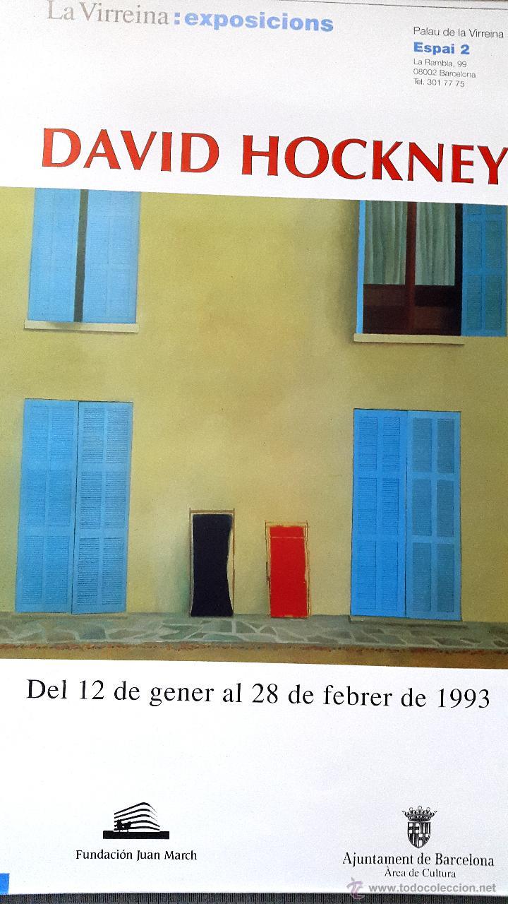 DAVID HOCKNEY - EXPOSICIÓN 1993 - BARCELONA (Coleccionismo - Carteles Gran Formato - Carteles Varios)